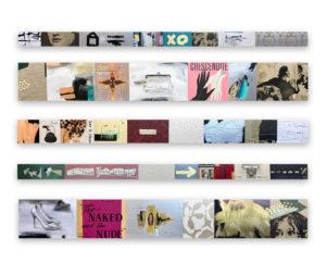 """Storyline-Silk-I-V""-2020-Vintage-ephemera-gold-leaf-oil-acrylic-and-resin-on-panel-60-x-72"""