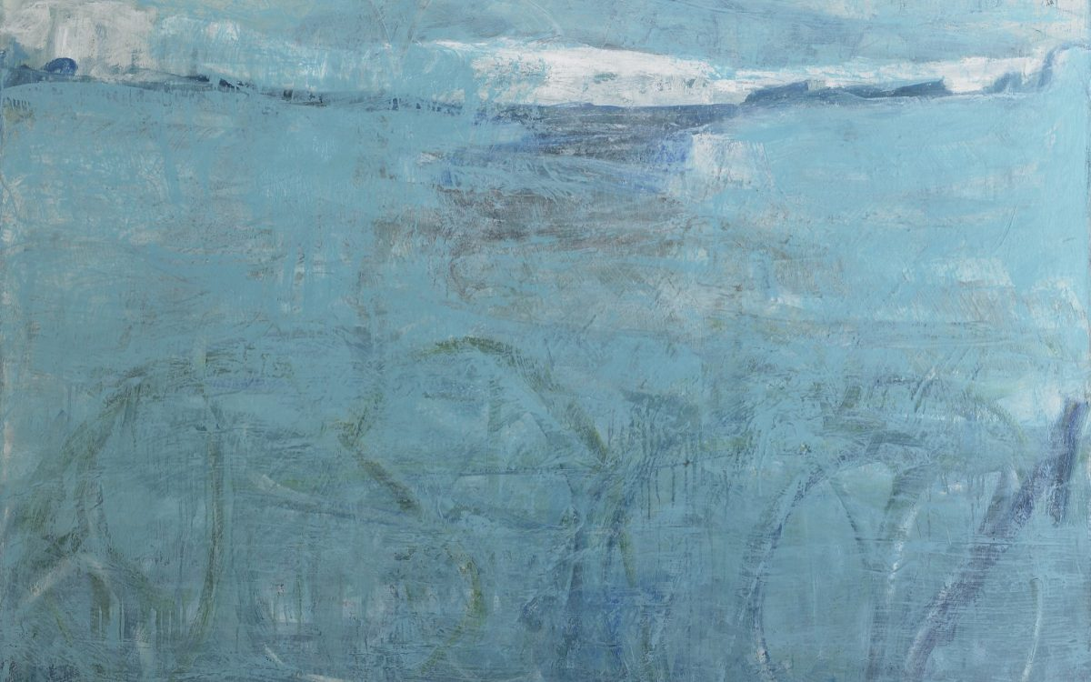 "Frozen in Time#1839:2012/14. Oil, cold wax on linen 55"" x 72"""