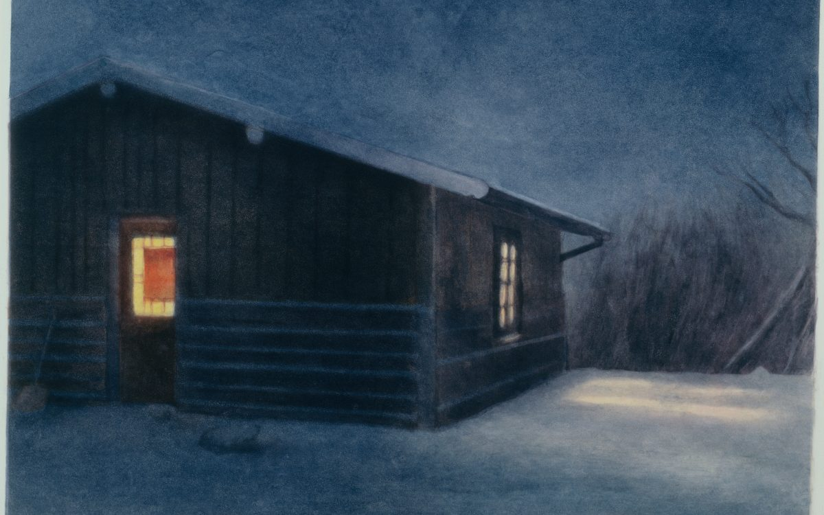Cold Night_Wyoming_monotype_