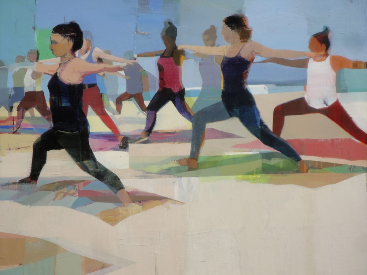 Suhas Bhujbal, Yoga, oil on canvas - 48 x 68 inches